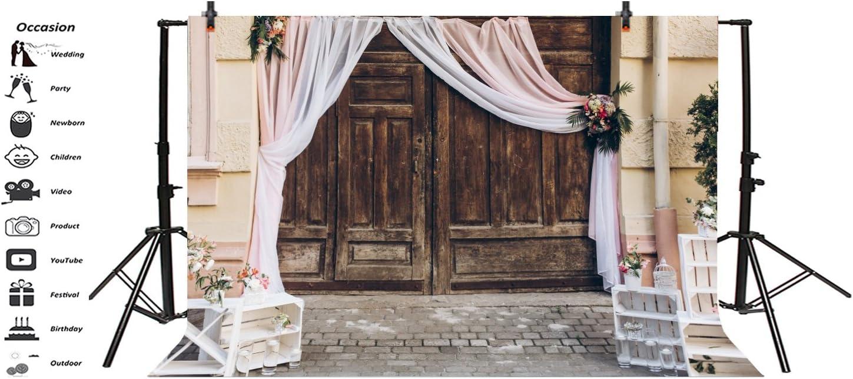 Cassisy 2,2x1,5m Vinyl Hochzeit Fotohintergrund Rustikal H/ölzerne Scheunent/üren Shabby Chic Luxusarrangements Fotoleinwand Hintergrund f/ür Fotoshoot Fotostudio Requisiten Party Liebhaber Photo Booth