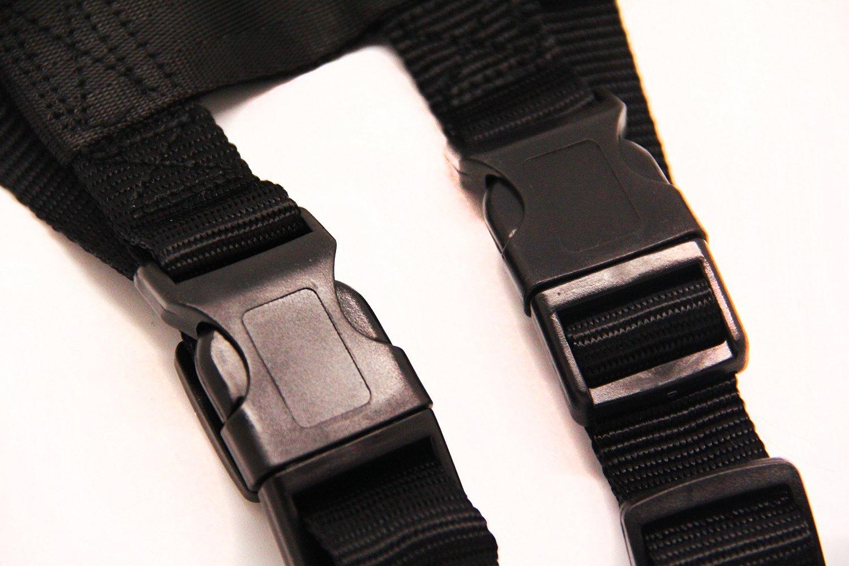 Color:Negro,Material:Nylon.59834 Cintur/ón de Seguridad Ajustable Con Arn/és de Coche para Perro BPS L//XL,60-110cm,Apto para Pesos de 22-50kg Animales Peque/ños y Medianos,Tama/ño: R Mascotas