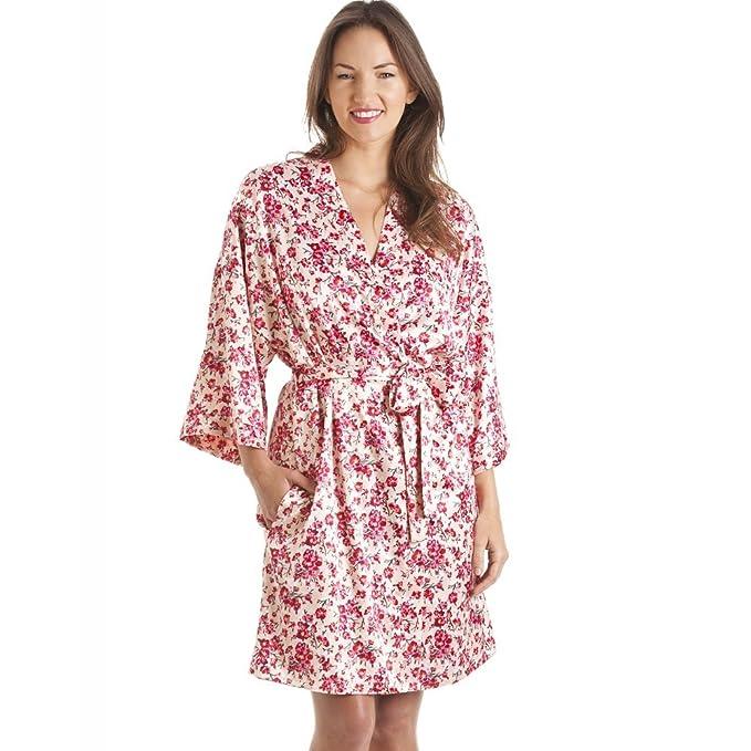 Conjunto de camisón y Bata Estilo Kimono - Estampado Floral - Rosa ...