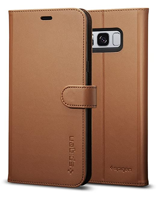 new style 72709 d30fb Spigen Wallet S Designed for Samsung Galaxy S8 Plus Case (2017) - Coffee  Brown