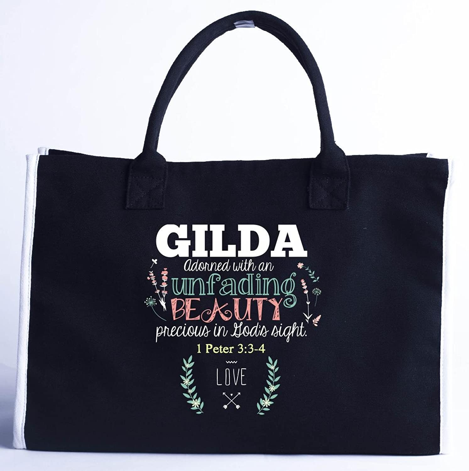 Gilda Adorned With An Unfading Beauty Precious - Fashion Customized Tote Bag