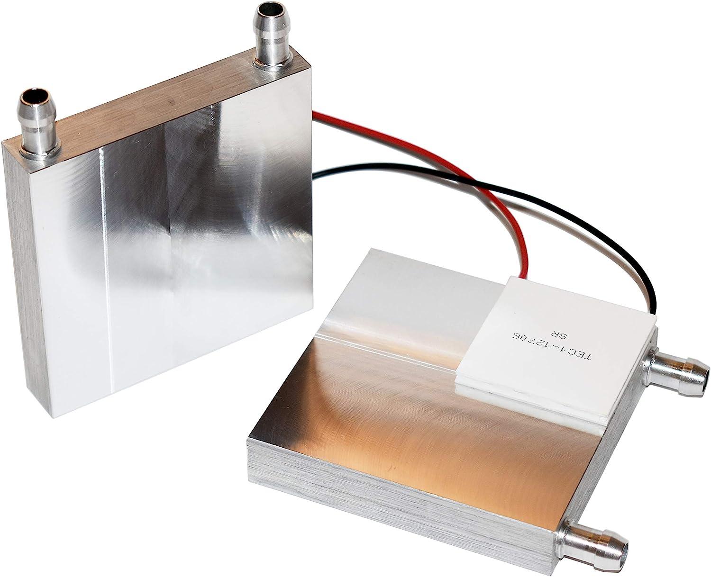 80 x 80 mm Large Water Cooling Block Aluminum Heatsink for Peltier TEC1-12706 or 12715 (One Block)