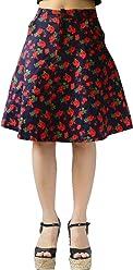 933d37f4bdeb YSJ Juniors Mini Skirt High Waist Floral Cotton A-Line Knee Length Swing  Skirts