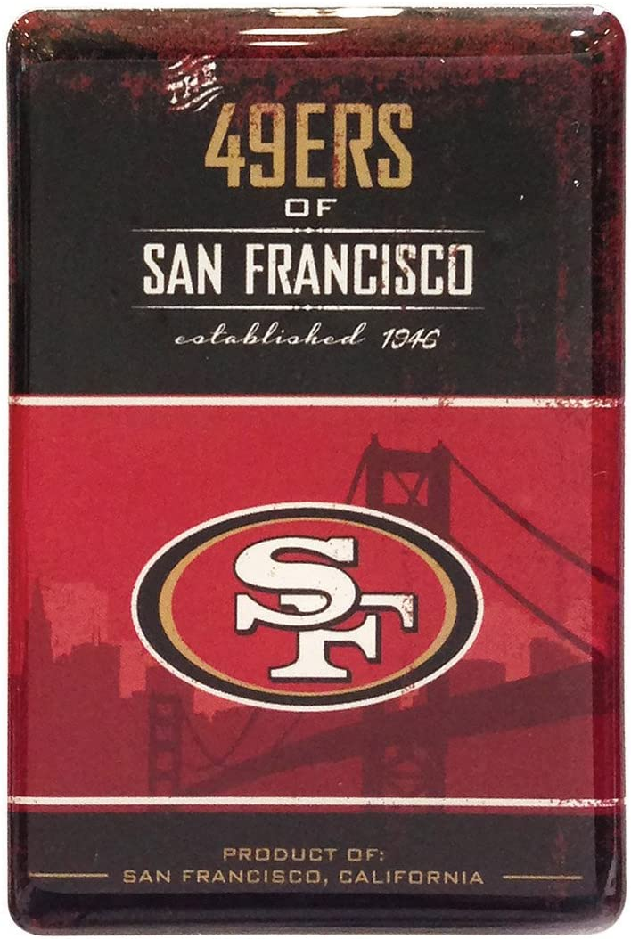 Pro Specialties Group NFL San Francisco 49Ers Fridge Magnet, Red/Black, One Size
