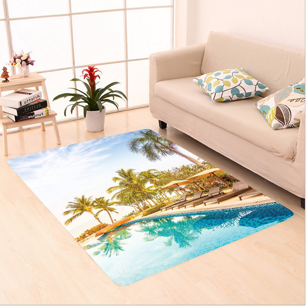 Nalahome Custom carpet erial View of A Pool in A Health Resort Spa Hotel with Exotic Elements Sports Modern Photo Multi area rugs for Living Dining Room Bedroom Hallway Office Carpet (6' X 9')