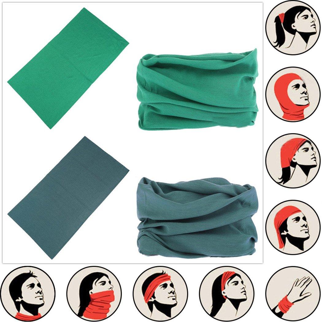 Headwear Head Wrap Sport Headband Sweatband 220 Patterns Magic Scarf 12PCS & 6PCS 12 in 1 By VANCROWN (12PCS.Solid Color) by VANCROWN (Image #4)