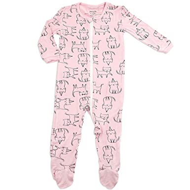 1143777e9 Silkberry Baby Bamboo Footie Sleeper Cat 0-3m  Amazon.in  Clothing ...
