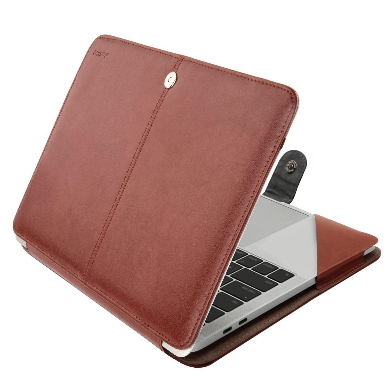 best website 3d4a0 a269e MOSISO PU Leather Case Compatible 2019 2018 MacBook Air 13 A1932 Retina /  2019 2018 2017 2016 MacBook Pro 13 A2159/A1989/A1706/A1708, Book Folio ...