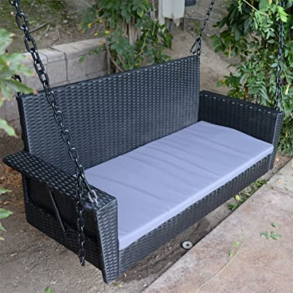 Stupendous Amazon Com Dbm Imports 54 5 Black Wicker Porch Swing Cjindustries Chair Design For Home Cjindustriesco