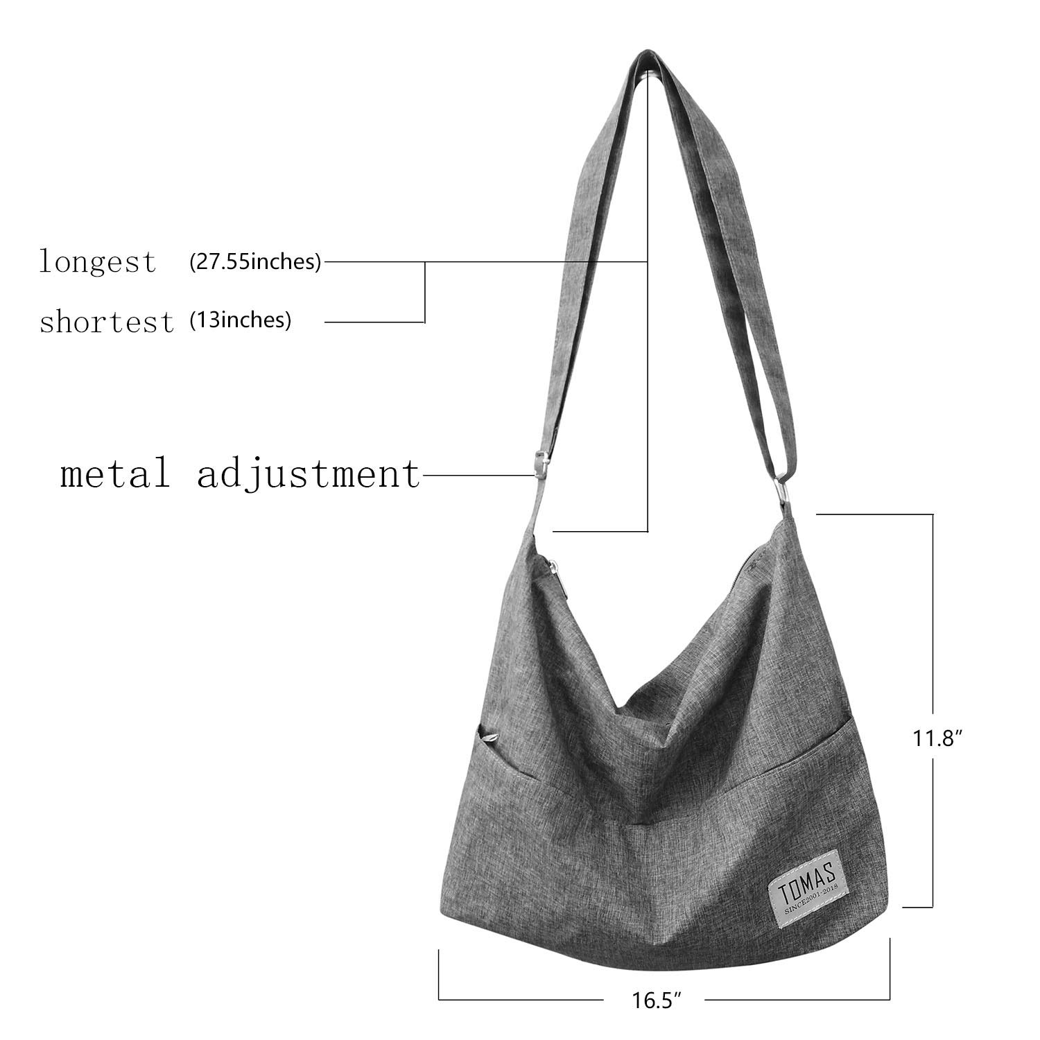 TOMAS Women Casual, Simple, Fashion, Resistant To Dirty, Lightweight,Durable Canvas Hobo Bag, Single Shoulder Bag Totes Bag Crossbody Bag by TOMAS (Image #5)