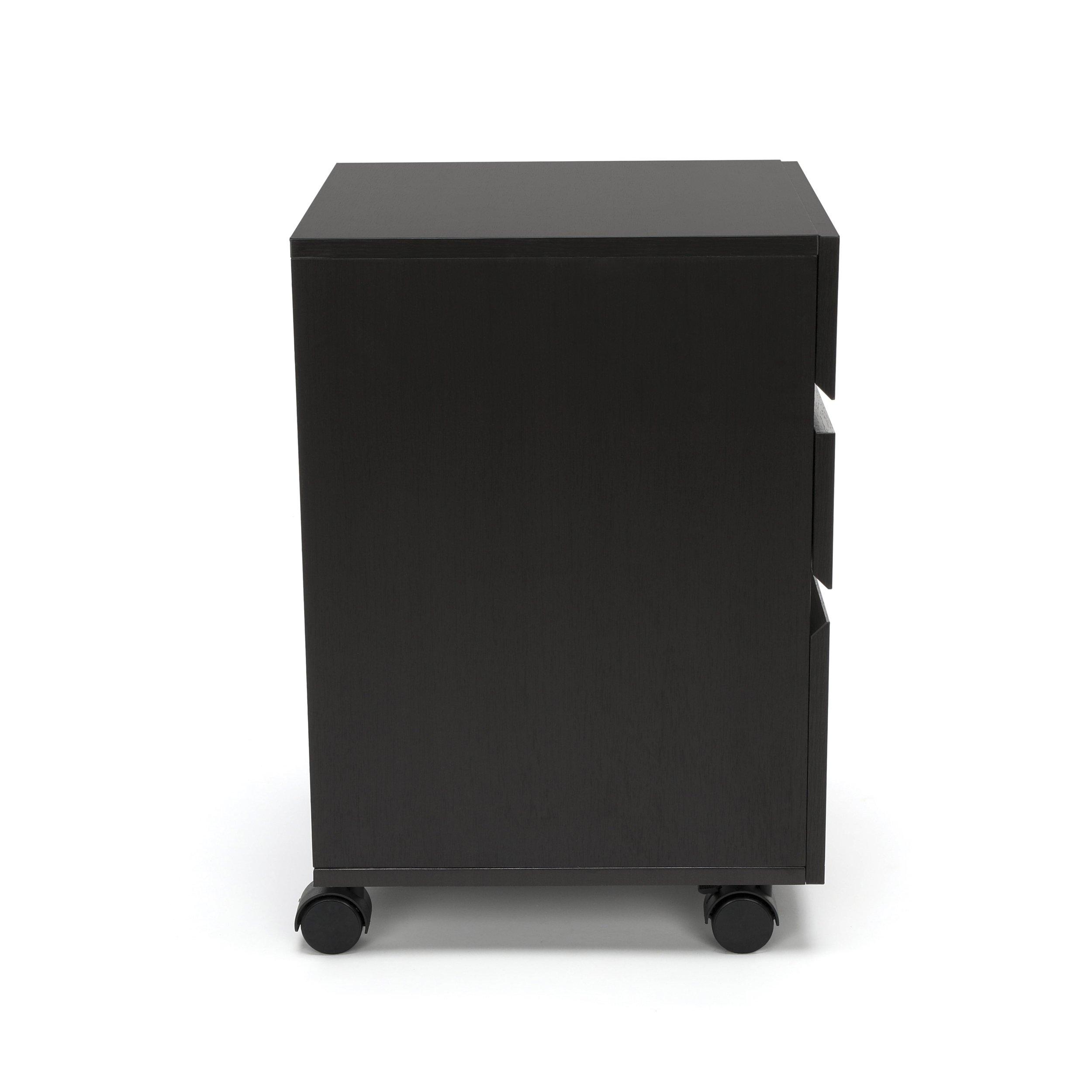 Essentials File Cabinet - 3-Drawer Wheeled Mobile Pedestal Cabinet, Espresso (ESS-1030-ESP) by OFM (Image #6)