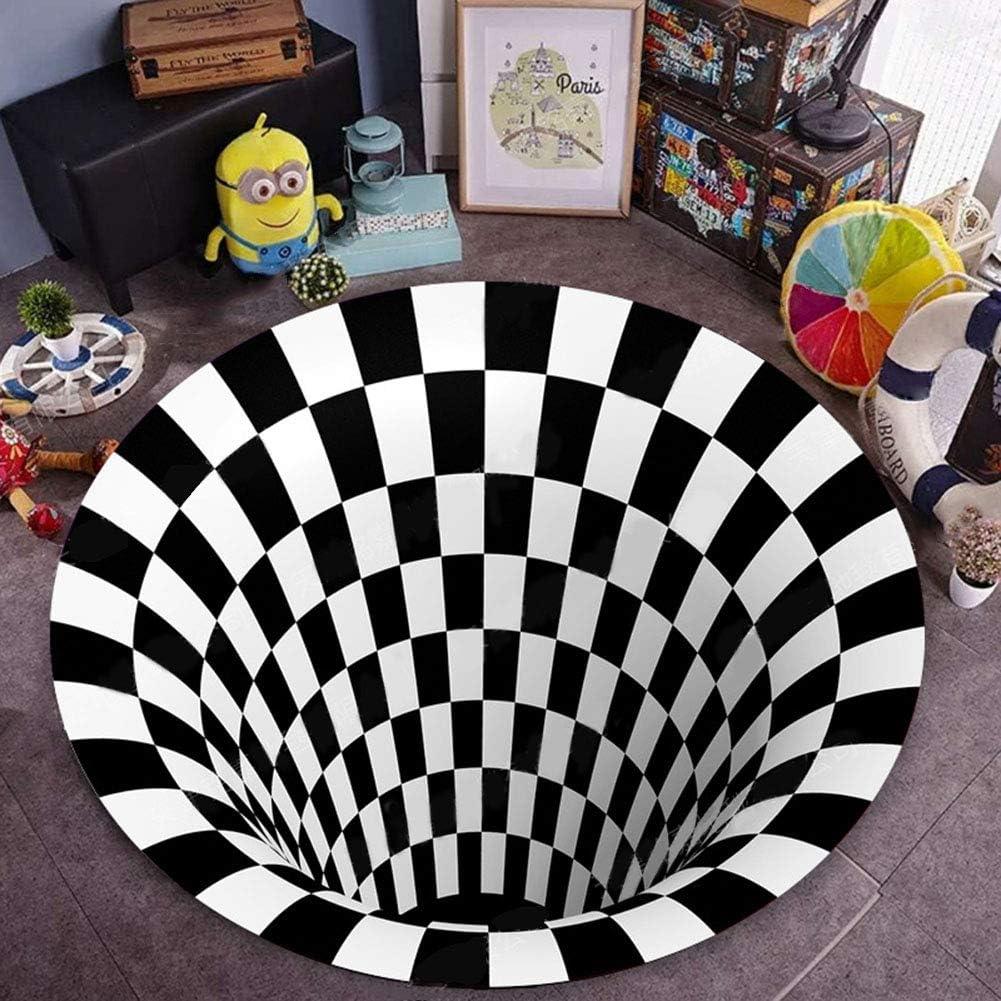 lovehouse 3D Illusion Doptique Tapis pour Salon,D/écoratifs Impression Tapis Lotus Oc/éan Mod/èle,Grand Lavable Tapis De Tapis,Antid/érapant Couloir Nautiques Tapis De Coureur-F 40/×60cm//15/×23in