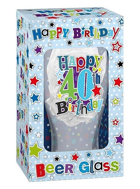 Vaso de cerveza de recuerdo de celebración de 40º cumpleaños ...