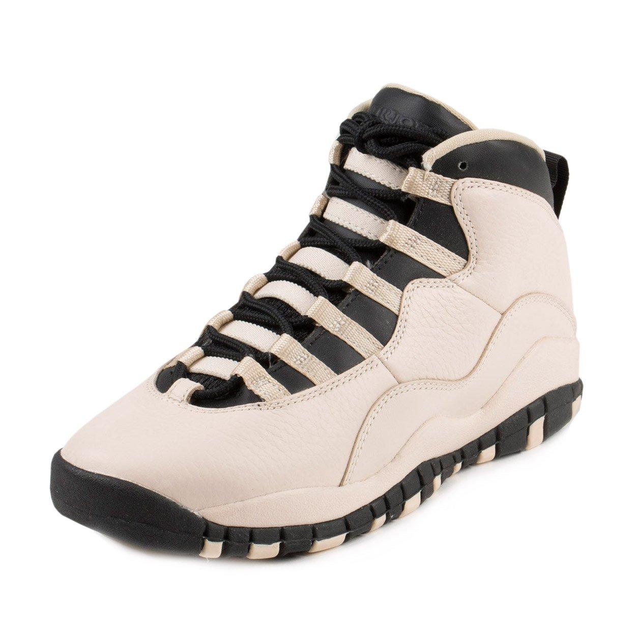 Jordan Nike Kids 10 Retro Prem GG Pearl White/Black/Black Basketball Shoe 6.5 Kids US by Jordan (Image #1)