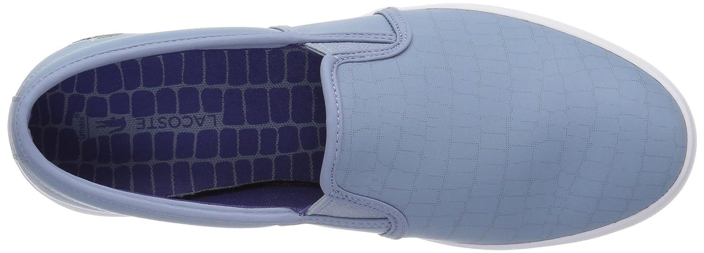 Lacoste Women's Gazon Slip-ONS B071X86HBH 6.5 B(M) US Light Blu/Dark Purp Leather