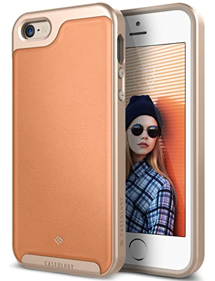 buy online 3946f 07a55 Caseology Envoy for Apple iPhone SE Case (2016) / for iPhone 5S Case (2013)  / for iPhone 5 Case (2012) - Leather Pink