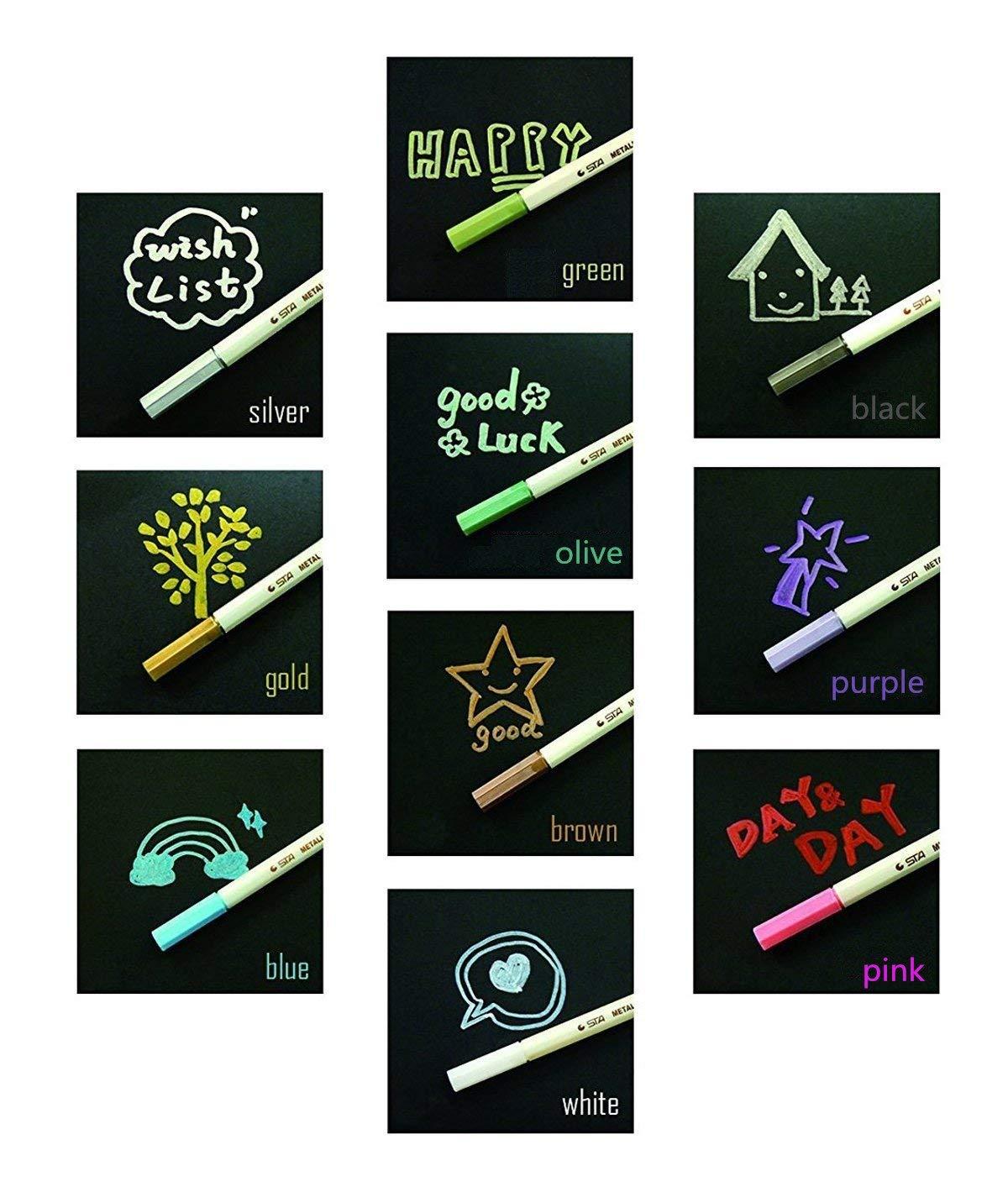 fai da te per realizzare bigliettini libro degli ospiti Jr.Hagrid Pennarelli metallici set da 10 colori assortiti album fotografico