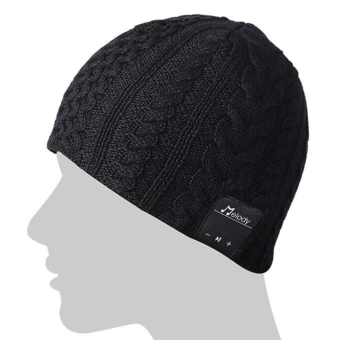 841e2d5b05148 Coeuspow Wireless Music Beanie Hat Music Knitted Cap Beanie Washable Cap  with Wireless Over Ear Headphone