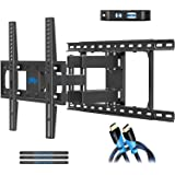 TV Wall Mount Bracket with Full Motion Articulating Arms for Most 26-55'' LED, LCD, OLED and Plasma TVs up to VESA 400 x 400mm and 99 lbs. Fits 16'', 18'', 24'' Wood Studs, by Mounting Dream