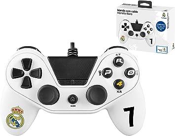 Mando con cable Pro4 controller para consola PS4 / Slim/ Pr - PC -PS3 - Accesorios de videojuegos Real Madrid: Amazon.es: Videojuegos