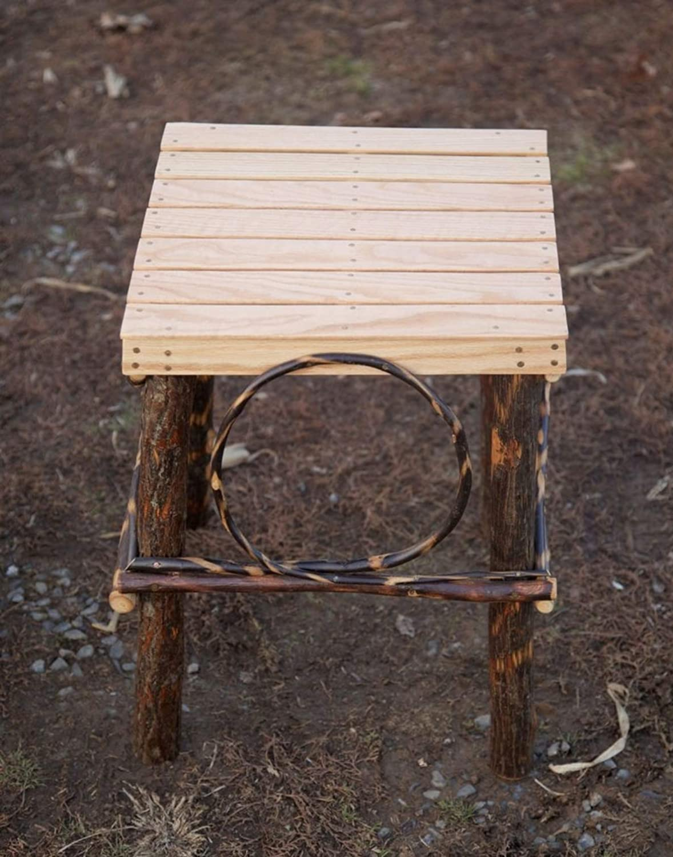 Amazon.com: Amish Made - Mesa de madera maciza con acabado ...