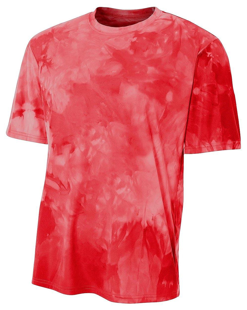 Medium Scarlet A4 Mens Cloud Dye Tech Tee
