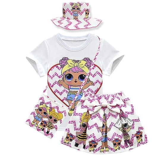 QYS Bebé muñecas Lindas Confeti Pop Camiseta + Falda + Bolsa para ...