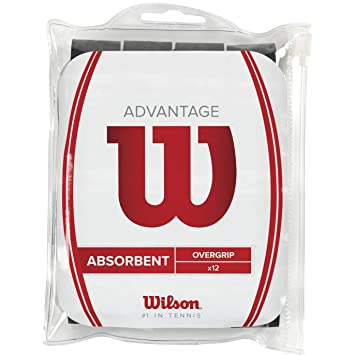 WILSON Advantage OVERGRIP BK 12PK Overgrips Raqueta-Unisex, Negro, NS: Amazon.es: Deportes y aire libre