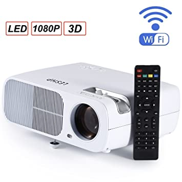 Proyector, LESHP LED WiFi 3D Bluetooth, 2600 Lúmenes, hasta ...