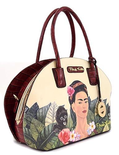 Frida Kahlo Jungle Series Frame Dome Satchel (RED): Handbags: Amazon.com