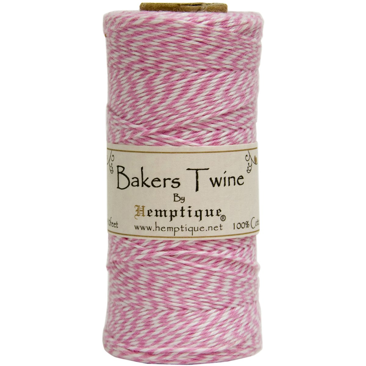 Amazon.com: Hemptique BTS2LTPNK-W Baker\'s Twine Spool, Pink White ...
