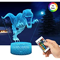 LED Lámpara de Mesa 3D Dinosaurio con Control