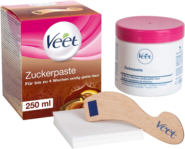 Sugaring Zuckerpaste zur Haarentfernung für spürbar glatte Haut für bis zu 4 Wochen Veet Zuckerpaste 1 x 250 ml: Amazon.de: Drogerie & Körperpflege - Zuckerpaste