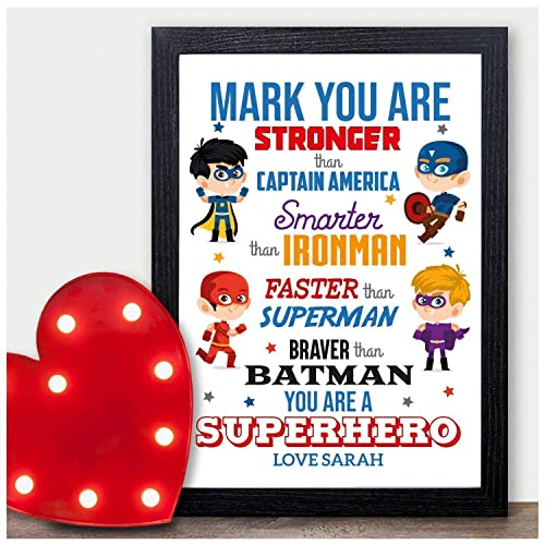 PERSONALISED Male Superhero Gifts For Husband Boyfriend Him Mr Partner