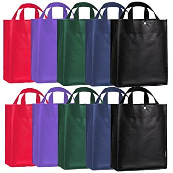 Amazon.com: 10 Packs of Recycled Polypropylene Reusable Grocery ...