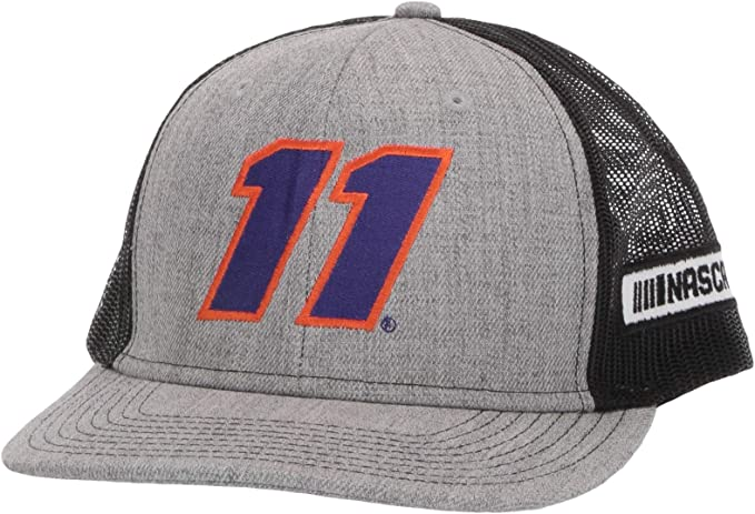 Heather Grey//Black Adjustable Ouray Sportswear NASCAR Joe Gibbs Racing Denny Hamlin Mens Zone Trucker Cap