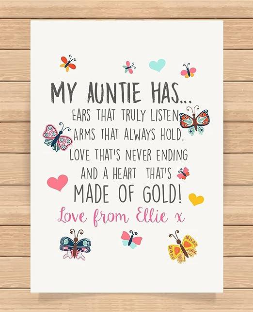 Cadeaux Cadeau Personnalisé Pour Auntie Mentor Teacher Baby