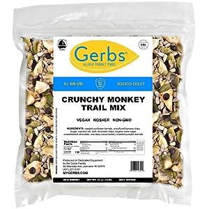 GERBS Crunchy Monkey Snack Mix, 32 ounce Bag, Top 14 Food Allergy Free, Non GMO, Vegan, Preservative Free