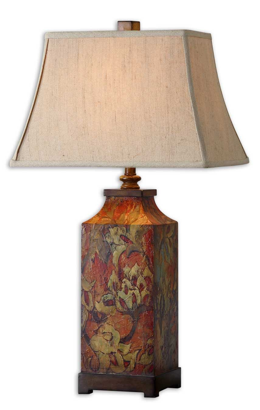 French Country Table Lamp Flower Design Amazon Com