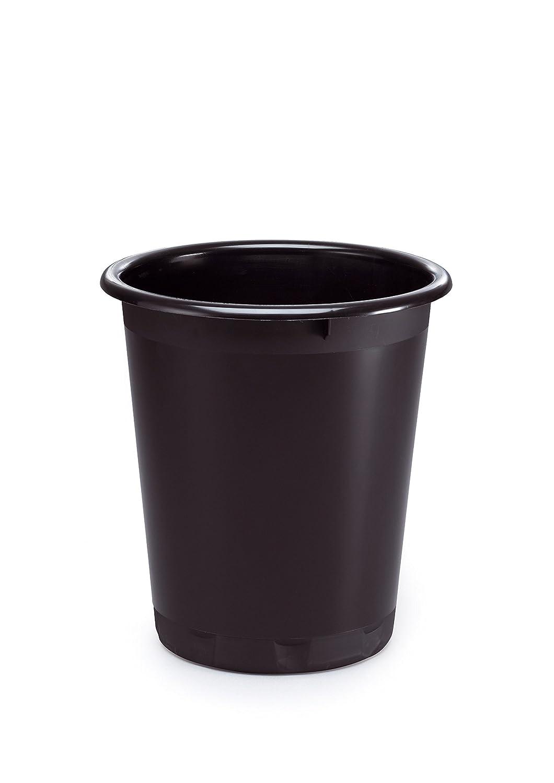 DURABLE - Cestino gettacarte Basic, cilindrico, capacità 13 litri, 320x290 mm, nero (cod. #1701572221) capacità 13 litri