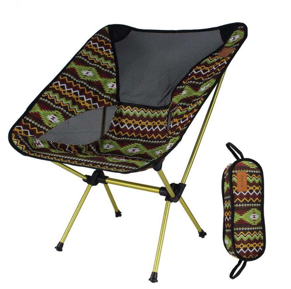 Klappstuhl im Freien, bunte Sun-Ruhesessel, beweglicher zusammenklappbarer kampierender Schemel, Ultralight faltende stützende Stühle mit Tragetasche, Sport-Partei im Freien Strand-Mond-Stuhl-Aluminiumdirektor-Stuhl