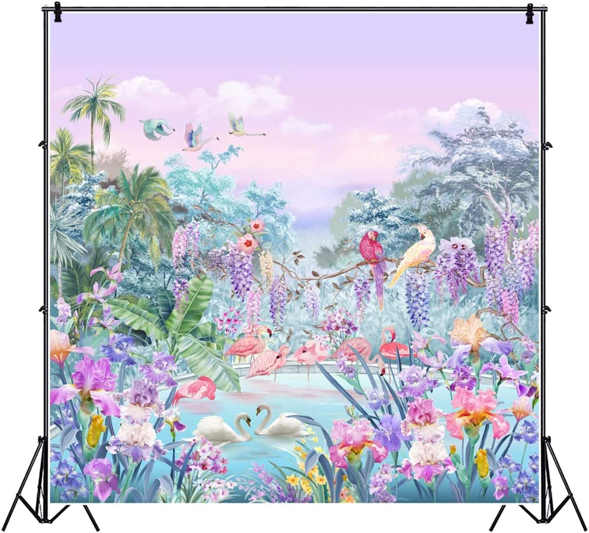 Photo Background Cloth Wall Backdrop Prints Decor Nature Lake Flower
