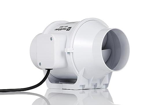 Hon&Guan 100mm Abluftventilator Hochleistungs Inline Rohrventilator ...