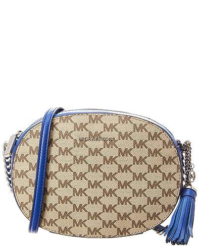 c94b719a0f85 Amazon.com  Michael Kors Ginny Medium Leather Messenger Bag  Shoes