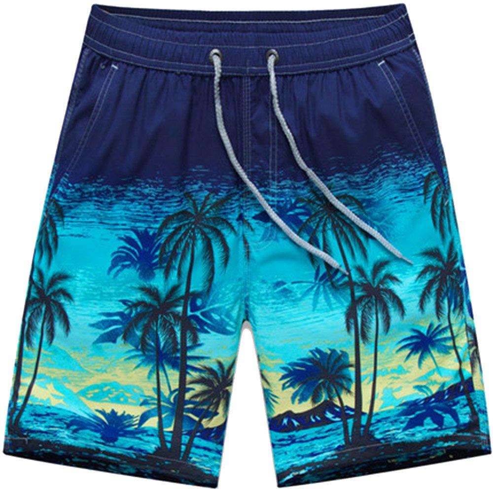 ZFADDS Summer Men's Shorts Beach Board Shorts Surfing Beach Shorts Swimwear Swimming Short Pants 18 L