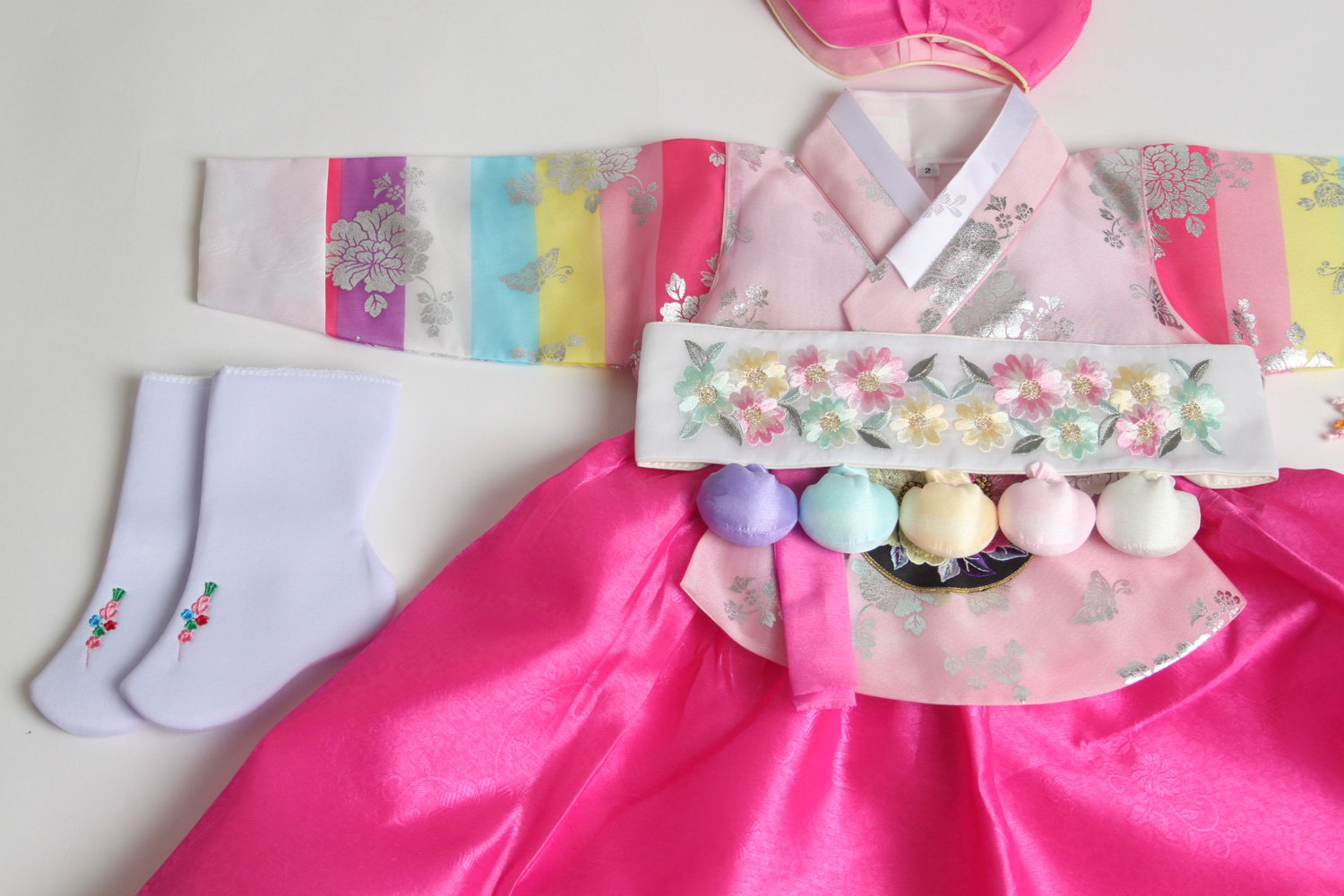 Korean hanbok girls DOLBOK 1st birthday traditional costumes hb062 by hanbok store (Image #4)