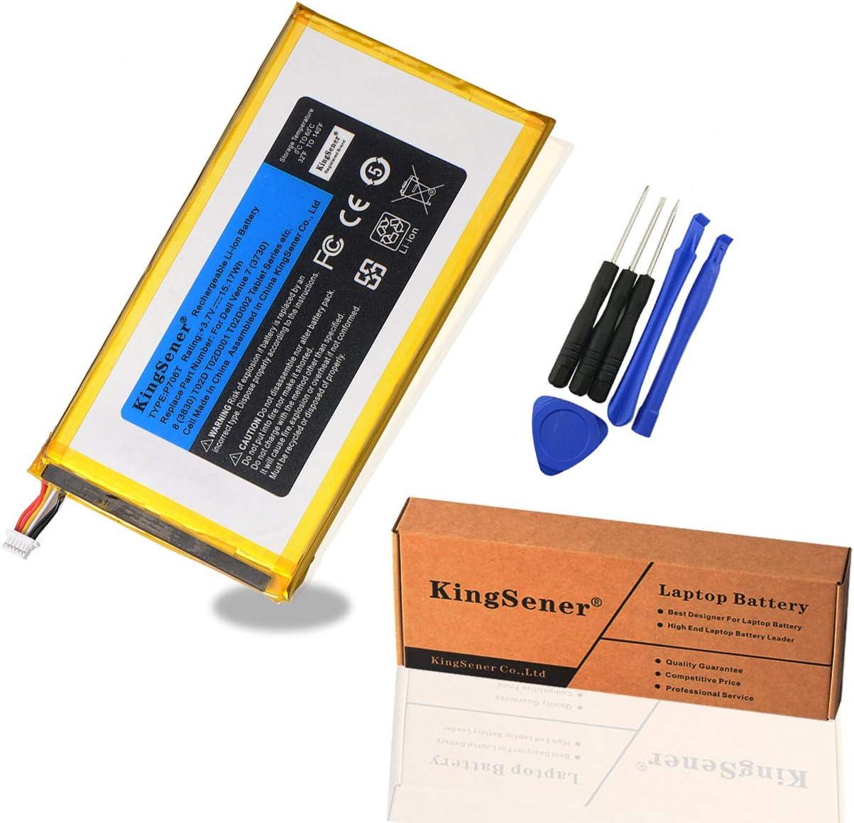 KingSener New 3.7V 15.17WH P706T Tablet Battery for DELL Venue 7 3730 Venue 8 3830 T01C T02D001 T02D002 0CJP38 02PDJW