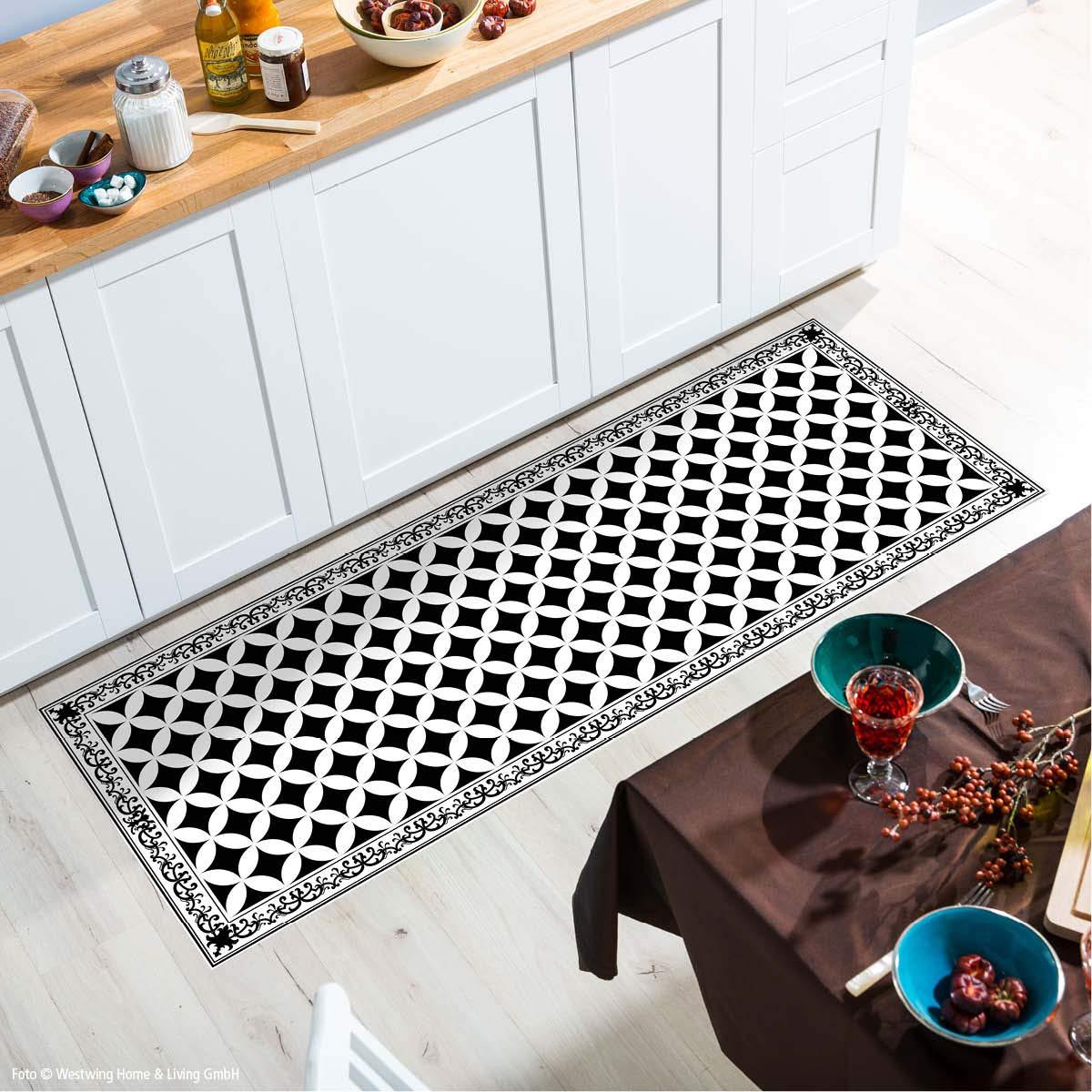 Myspotti - Buddy Chadi Rutschfeste Bodenschutzmatte aus Vinyl Badematte Küchenläufer Wohnzimmer Deko (180 x 68 cm)