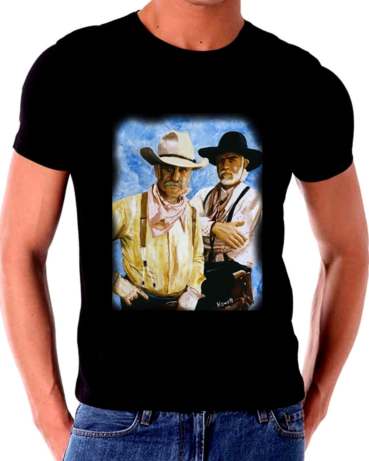 Lonesome Dove Gus and Call Painting T Shirt by Mostly Art Stuff