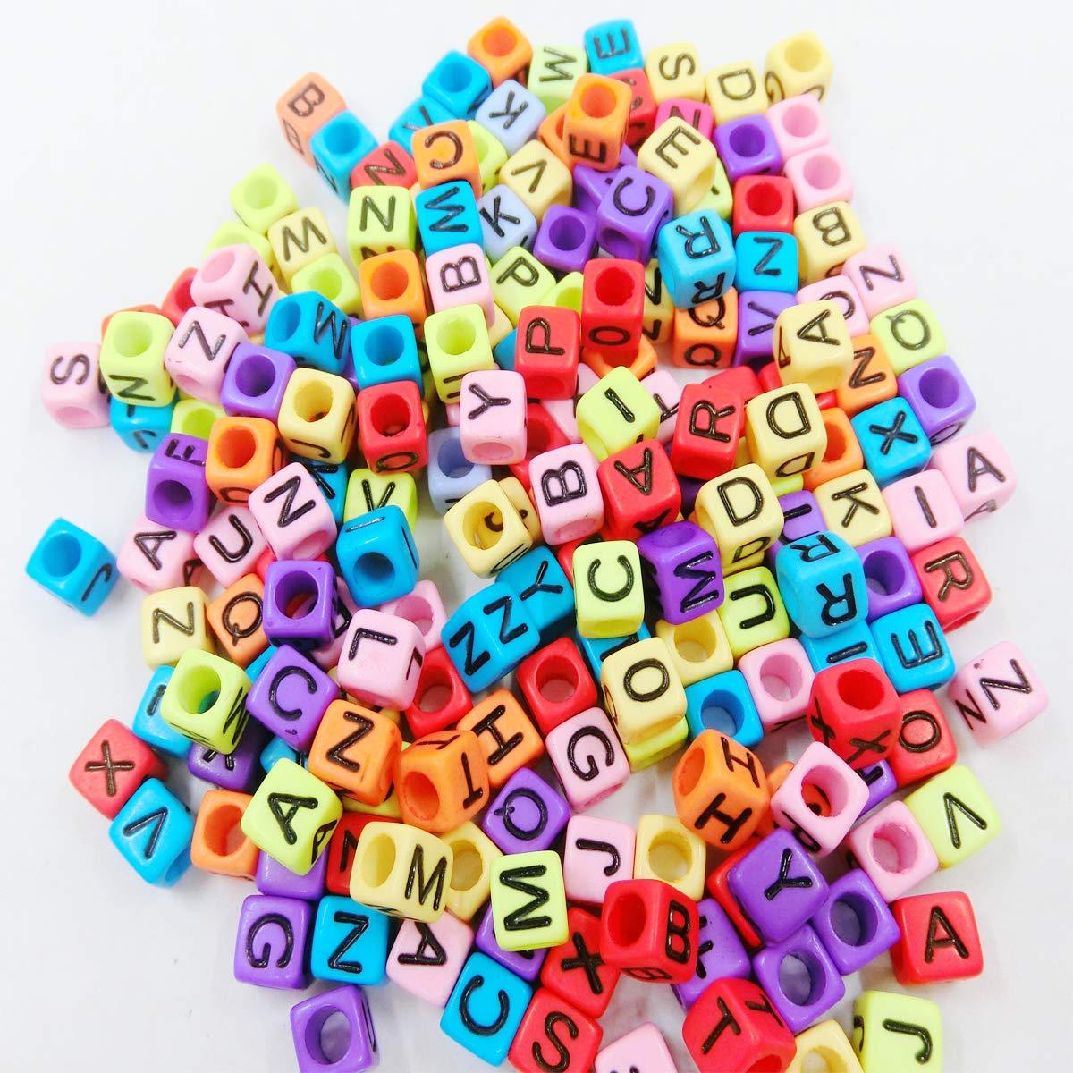 ddafe291895c Mengger Abalorios Alfabeto Letras Acrílico Perlas Multicolor para ...